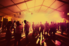 Party il dancing della gente Fotografia Stock Libera da Diritti