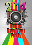 2014 party. Illustration of 2014 happy new ear party with loudspeacker stock illustration