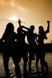 Party im Wasser Stockbild