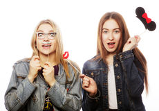 Party image. Best girls friends. Royalty Free Stock Photography