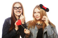 Party image. Best girls friends. Royalty Free Stock Image