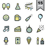 Party ine icons set Royalty Free Stock Photos
