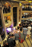 Party inside cruise ship. Crown Princess Royalty Free Stock Photos