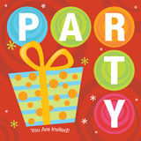 Party Invitation. Illustration of Party Invitation on circular background Stock Photos