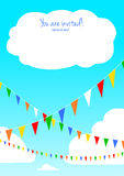 party invitation banners clouds Royalty Free Stock Image