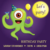 Party invitation with alien Royalty Free Stock Photography