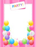 Party Invitation Background Stock Photos