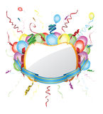 Party invitation card with balloons Royalty Free Stock Image