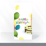 Party Invitation Card Design, Template. Colorful Birthday Background. Party Invitation Card Design, Template. Vector Illustration Stock Image