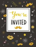 Party invitation card template Stock Photos