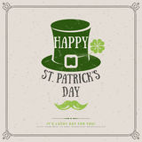 Party Invitation Design with Irish Hat Emblem Royalty Free Stock Photo