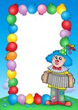 Party Invitation Frame With Clown 6 Stock Photo
