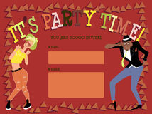 Party invitation template Royalty Free Stock Image