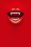 Party Invitation with vampire mouth Stock Images