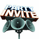 Party invite Stock Image