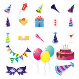 Party Item Set Royalty Free Stock Images