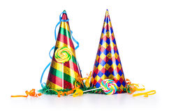 Party items on white. Party items on the white royalty free stock images