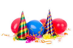 Party items. On the white royalty free stock photos