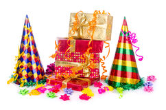 Party items. On the white royalty free stock images