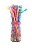 Party jar with straws Stock Photo