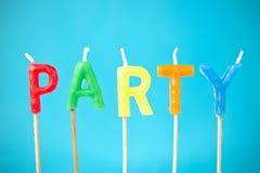 Party-Kerzen Lizenzfreie Stockfotos