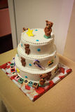 Party kid cake with teddy bears, a lovely idea birthday cake for young children Stock Photos