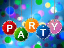Party Kids Means Fun Cheerful And Youth. Kids Party Representing Youngsters Joy And Parties Royalty Free Stock Image