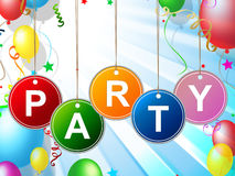 Party Kids Means Toddlers Celebration And Childhood Stock Images