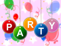 Party Kids Shows Youths Parties And Child. Party Kids Representing Children Toddlers And Youth Stock Image