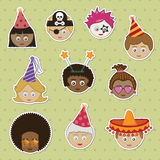 Party kids stickers Stock Photo