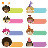 Party kids tabs Royalty Free Stock Images