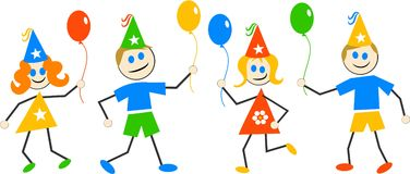 Party Kinder Lizenzfreies Stockfoto