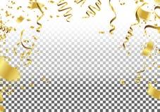 Party la decoración Balones de aire, confeti y serpentina en blanco Libre Illustration