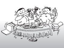 Party la ilustración de consumición Fotografía de archivo