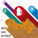 Party label Stock Image