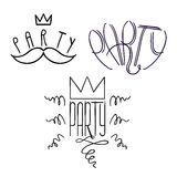 Party Labels Doodle-02 vector illustration