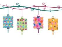 Party lanterns vector illustration