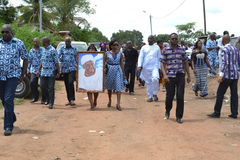 PARTY OF LAURENT GBAGBO IN MOURNING Stock Photography