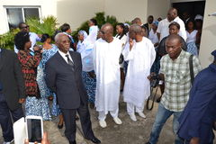 PARTY OF LAURENT GBAGBO IN MOURNING Royalty Free Stock Image