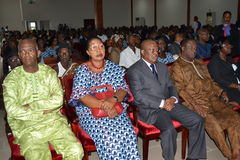 PARTY OF LAURENT GBAGBO IN MOURNING Royalty Free Stock Photography