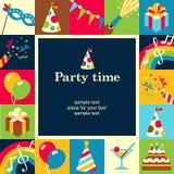 Party le temps illustration libre de droits