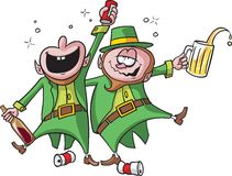Party Leprechauns vector illustration