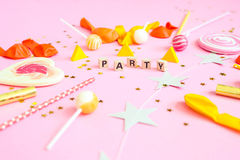 Party les objets Photos stock