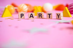 Party les objets Photographie stock