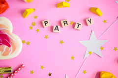 Party les objets Images stock