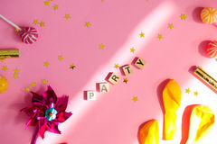 Party les objets Photo stock