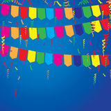 Party and lifestyle Event on a blue background. Festive gatherings blue background. Stock Photos