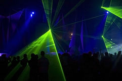 Party light show. On a great musician festival royalty free stock photography