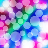 Party Lights. Abstract colorful blur party background with  transparent white circle spots of lights Royalty Free Stock Photos