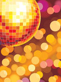Party lights. Party disco background with glowing lights Stock Images